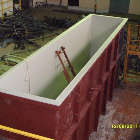Футеровка гальванической ванны