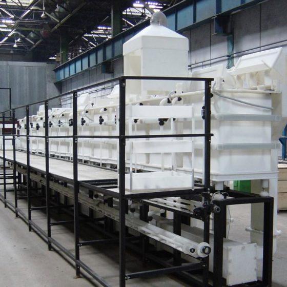 Химическое производство с гальваническими ваннами