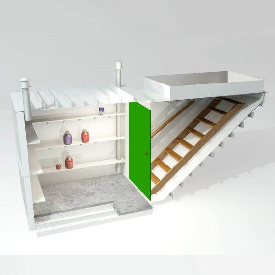 Пластиковый погреб с боковым входом