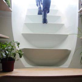 Маршевая лестница в погреб